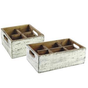 Box dřevěný s přihrádkami Vintage