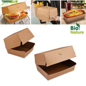 Box na burger nepromastitelný hnědý