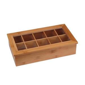 Box na čajové sáčky dřevo