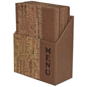 Box s jídelními lístky Design Cork