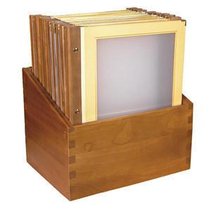 Box s jídelními lístky Wood béžový