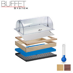 Bufetový modul 1/1 chlazený rolltop akryl