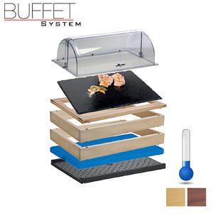 Bufetový modul 1/1 chlazený s břidlicí s rolltopem