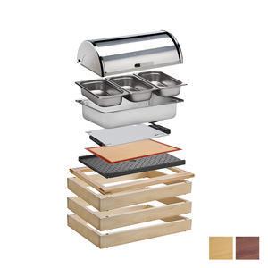Bufetový modul 1/1 pro teplé pokrmy světlý