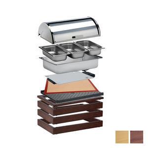 Bufetový modul 1/1 pro teplé pokrmy tmavý
