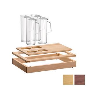 Bufetový modul 1/1 se 4 karafami