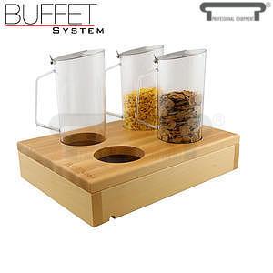 Bufetový modul 1/2 se 4 otvory bez karaf