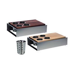 Bufetový modul 5 nerez - 4 košíky na příbory