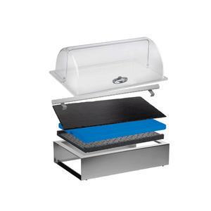 Bufetový modul ICE nerez s poklopem a břidlicí