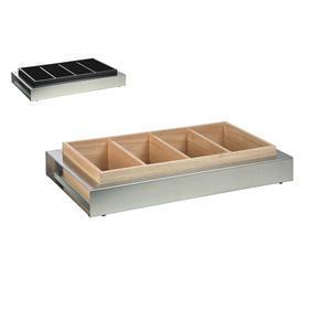 Bufetový modul nerez s dřevěným zásobníkem