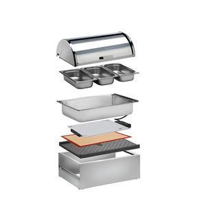 Bufetový modul nerez vyhřívaný 3 x GN 1/3-65 mm