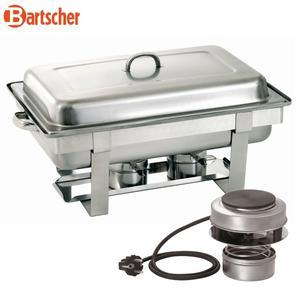 Chafing dish GN 1/1-65 mm kombinovaný ohřev Bartscher, GN 1/1-65 mm - 0,45 kW / 220-230 V - 5,45 kg
