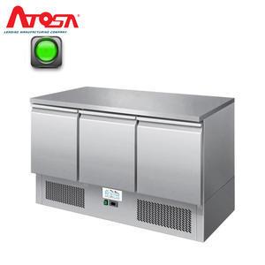 Chladicí pracovní stůl ICE3851GR třídveřový 4x GN 1/1