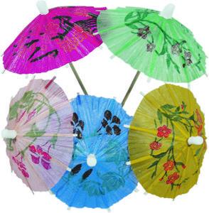 Deštníčky do koktejlů a pohárů