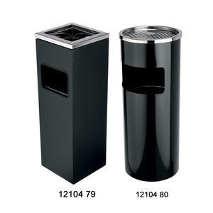 Koš odpadkový s popelníkem černý