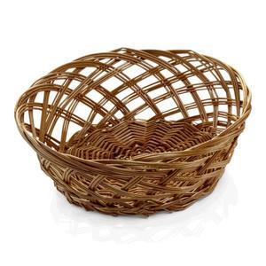 Košík na pečivo proutěný kulatý