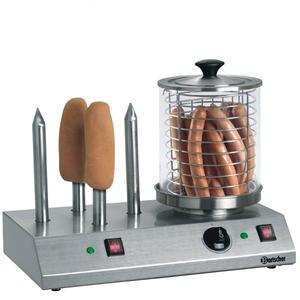 Ohřívač párků Hot Dog nádoba a 4 trny Bartscher