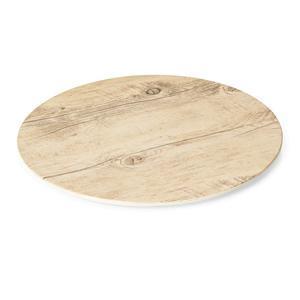 Plato kulaté melamin dřevěný vzhled