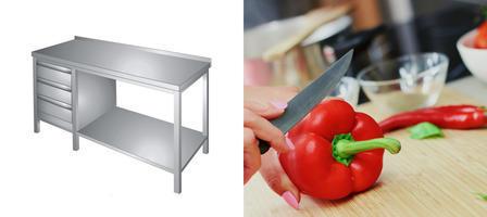Pracovní stoly nerez