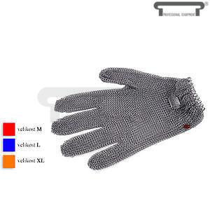 Řeznická rukavice s uzavíratelným systémem