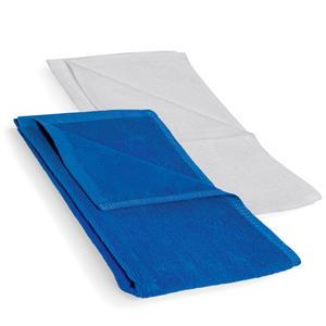 Ručník bílý a modrý froté