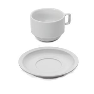 Šálek a podšálek cappuccino stohovatelný