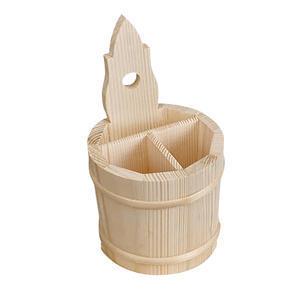 Stojánek na příbory dřevěný soudek