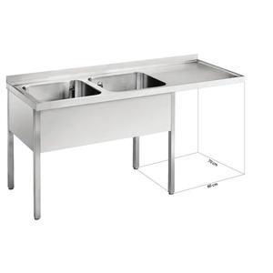 Stůl mycí 2 dřezy