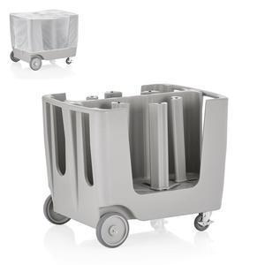 Vozík na nádobí šedý