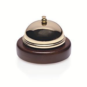 Zvonek recepční mosaz se dřevem
