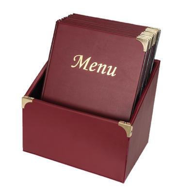 Box s jídelními lístky Basic, bordó - 10 JL + box - A4 - 1