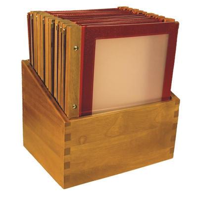 Box s jídelními lístky Wood bordó, bordó - 20 JL + box