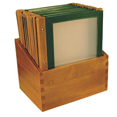 Box s jídelními lístky Wood zelený, zelená - 20 JL + box - A4