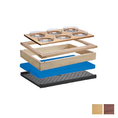 Bufetový modul 1/1 chlazený 6 misek, tmavý buk - 13,0 cm - 1