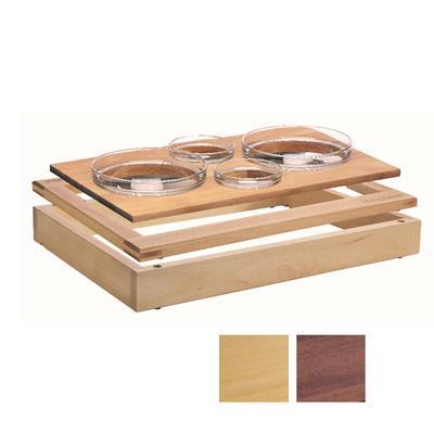 Bufetový modul 1/1 se 4 miskami, tmavý buk GN 1/1 - 6,5 cm - 1