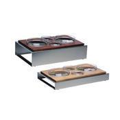Bufetový modul ICE nerez - 4 misky, nerez ICE - světlý/4misky - 13 cm - 1/6