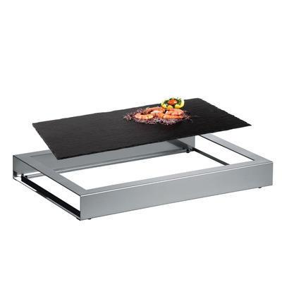 Bufetový modul nerez s břidlicovou deskou, nerez - břidlice - 13 cm