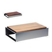 Bufetový modul nerez s deskou uni, nerez - světlý/uni deska - 6,5 cm - 1/3