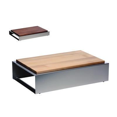 Bufetový modul nerez s deskou uni, nerez - světlý/uni deska - 13 cm