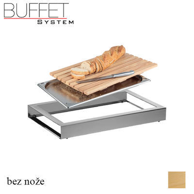 Bufetový modul nerez s roštem a GN, nerez - GN/rošt - 6,5 cm