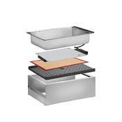 Bufetový modul pro teplé pokrmy nerez, teplý modul nerez - 20 cm - 57 x 36 cm - 1/4