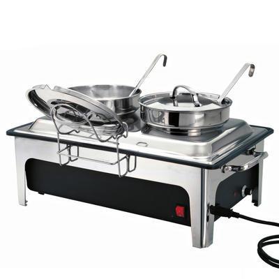 Chafing dish na polévku 2 x 4 l Bartscher, objem 2 x 4 l - 636 x 357 x 460 mm - 2,2 kW / 230 V - 1