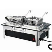 Chafing dish na polévku 2 x 4 l Bartscher, objem 2 x 4 l - 636 x 357 x 460 mm - 2,2 kW / 230 V - 1/3