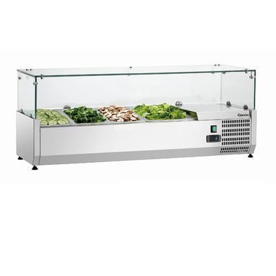Chladicí nástavba 3 x GN 1/3 a 1 x GN 1/2 Bartscher, 3xGN1/3 a 1xGN1/2 - 1200 x 400 x 425 mm - 0,166 kW