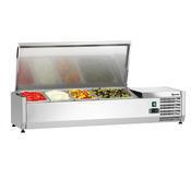 Chladicí nástavba nerez 3x1/3GN a 1x1/2GN Bartscher, 1200 x 400 x 275 mm - 0,166 kW / 230 V - 24,8 kg - 1/3