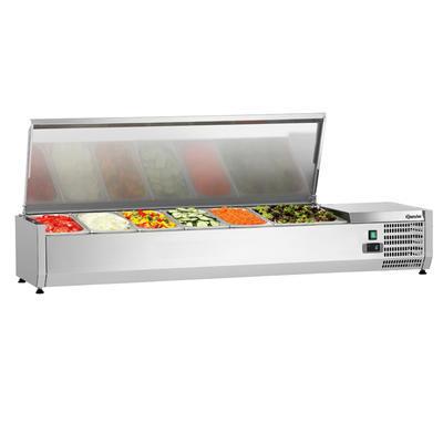 Chladicí nástavba nerez GN 5x1/3 a 1x1/2 GN Bartscher, 1500 x 400 x 275 mm - 0,174 kW / 230 V - 27,8 kg - 1