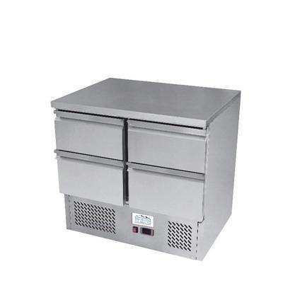 Chladicí pracovní stůl ICE3820GR na 4 zásuvky GN 1/1, 900 x 700 x 910 mm - 220 W - 82 kg