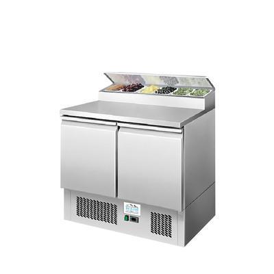 Chladicí pracovní stůl ICE3832GR pro 5x GN 1/6, Š 915 x H 700 x V 1075 mm - 310 W / 220 V - 77 kg
