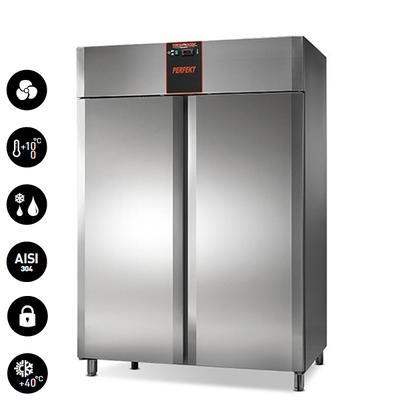 Chladicí skříň nerezová TN 1400 Perfekt, 1420 x 800 x 2035mm - 909 l - 365 W / 230 V