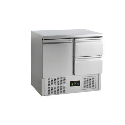 Chladicí stůl GN 1/1 2 zásuvky, 900 x 700 x 877 mm - 155 W / 230 V